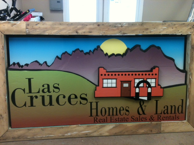 Custom 3d building sign for las cruces homes land d2 for Las cruces home builders
