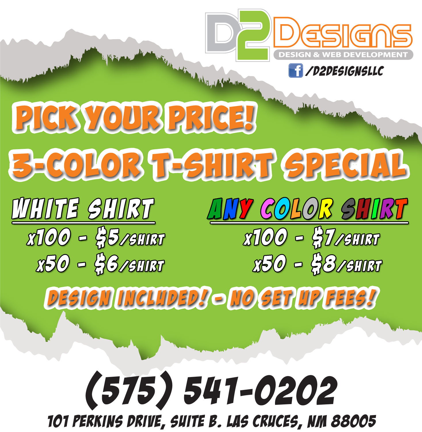 Design t shirt price - Pick Your Price 3 Color Tshirt Special