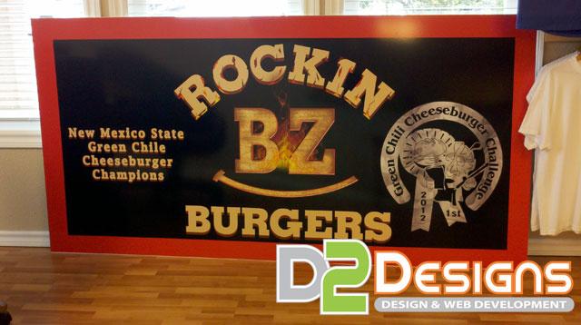 Business Sign For Rockin Bz Burgers D2 Designs Llc