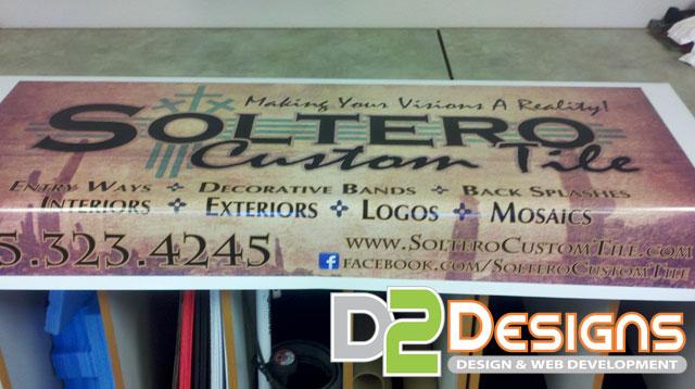 Soltero Custom Tile Banner