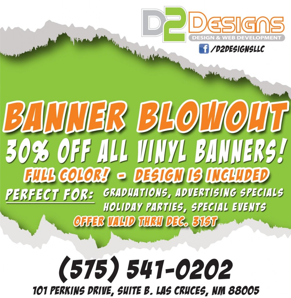 December Banner Blowout Special