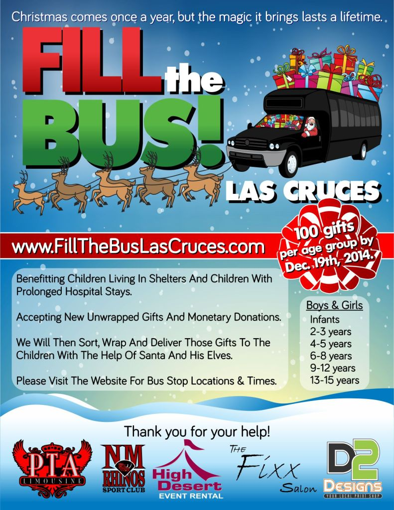 2014 Fill the Bus Las Cruces Flier