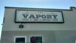 The Vapory S New Signage D2 Designs Llc