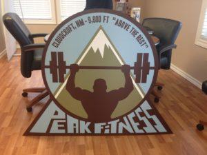 New Sign For Peak Fitness D2 Designs Llc